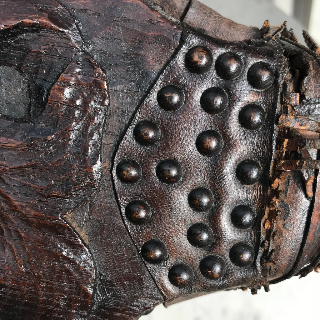 19th Century Carved Oak Bellows - Detail View - 4