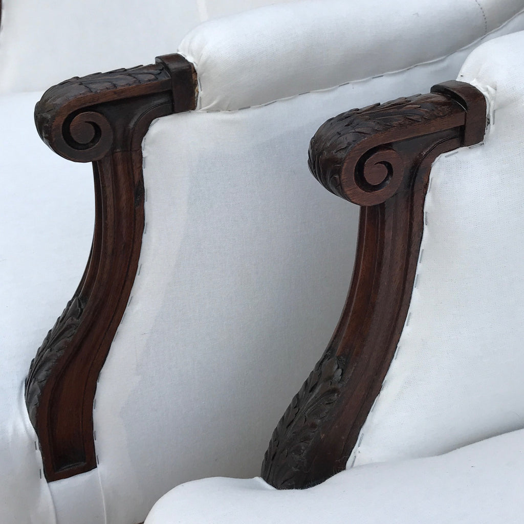 Pair of 19th Century French Armchairs -Arm Detail View - 3