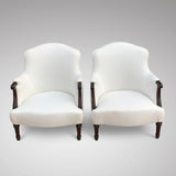 Pair of 19th Century French Armchairs -Front View - 2