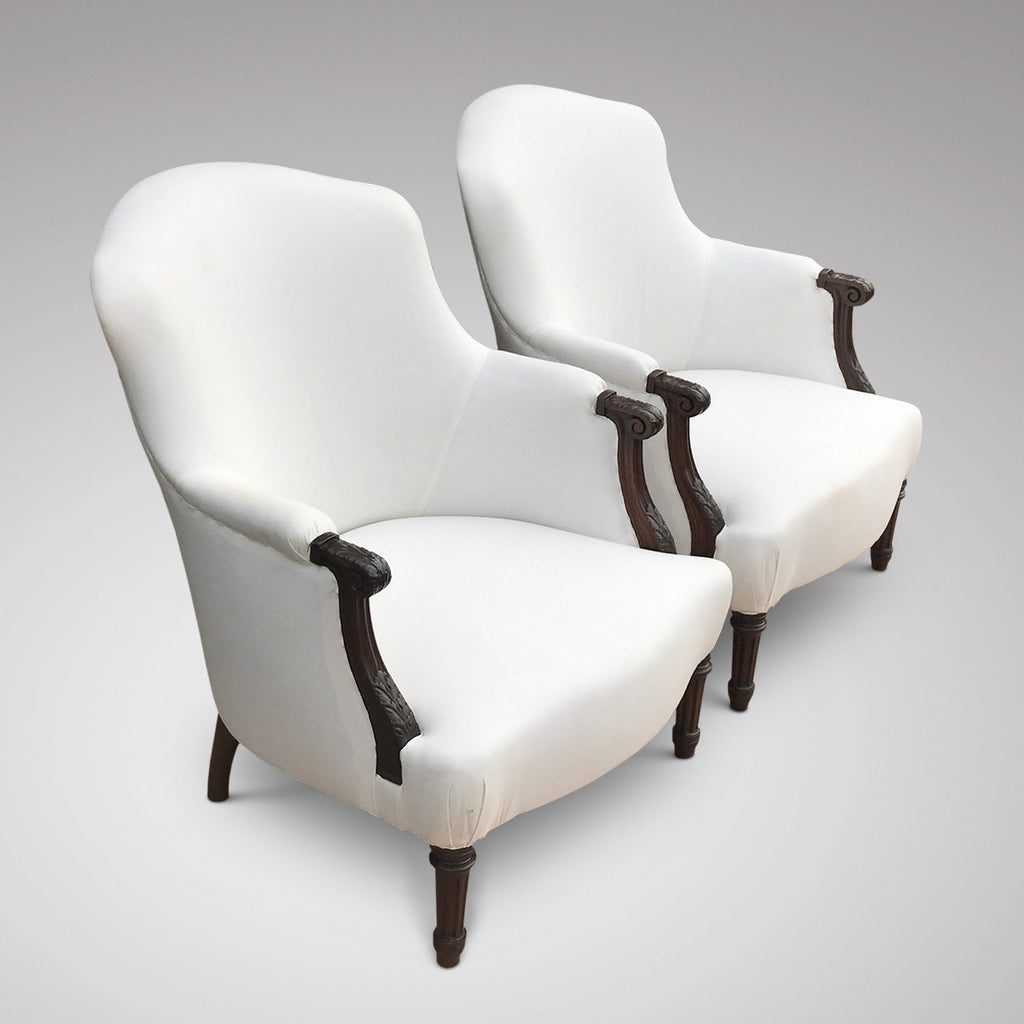 Pair of 19th Century French Armchairs -Side View - 1