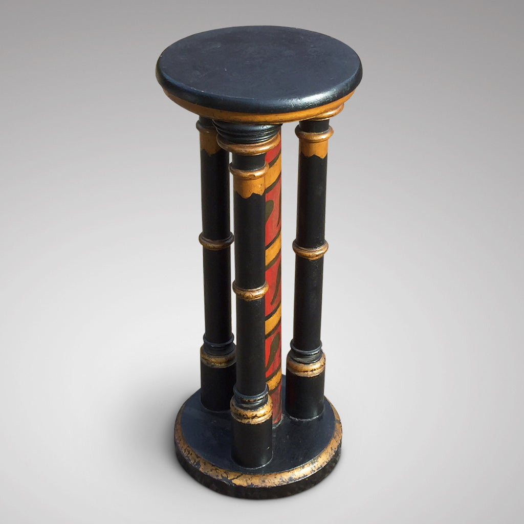 Decorative Victorian Painted Pedestal - Main View - 2