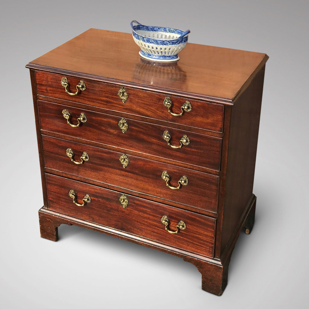 George III Mahogany Chest of Drawers - Front Top and Side View - 2