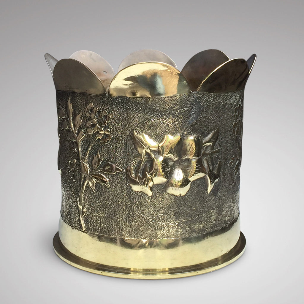 Early 20th Century Trench Art Jardiniere - Front View - 2