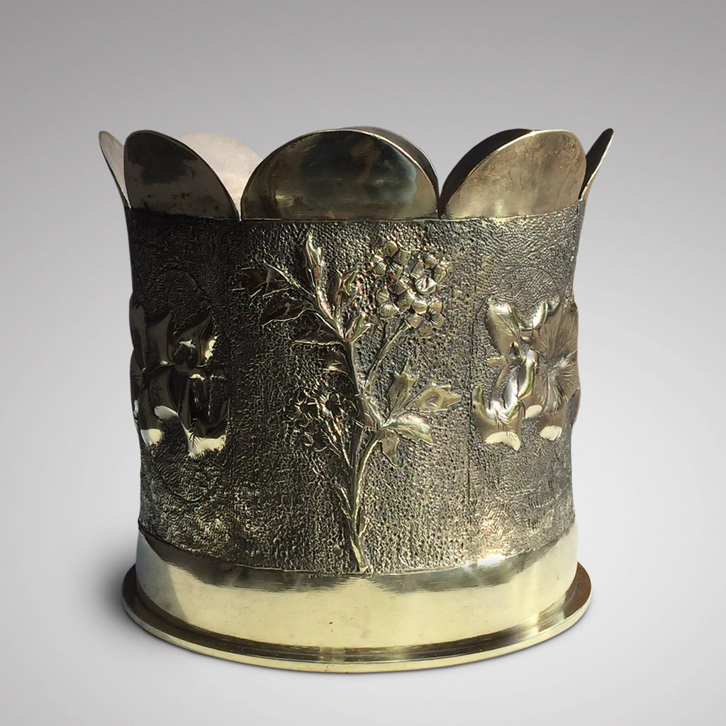 Early 20th Century Trench Art Jardiniere - Front View - 3