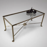 Mid 20th Century Brass Coffee Table - Main Front View - 1