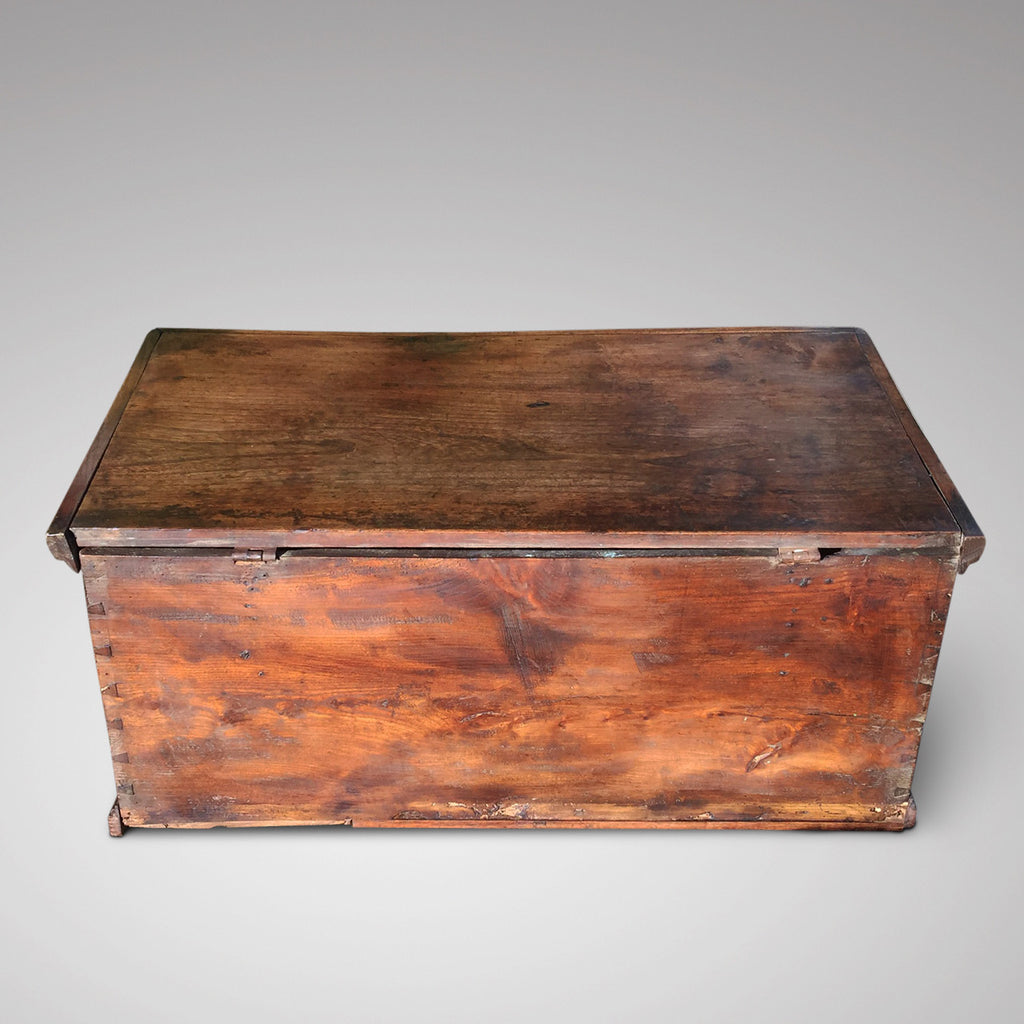 19th Century Elm Trunk/Coffee Table - Back View - 3