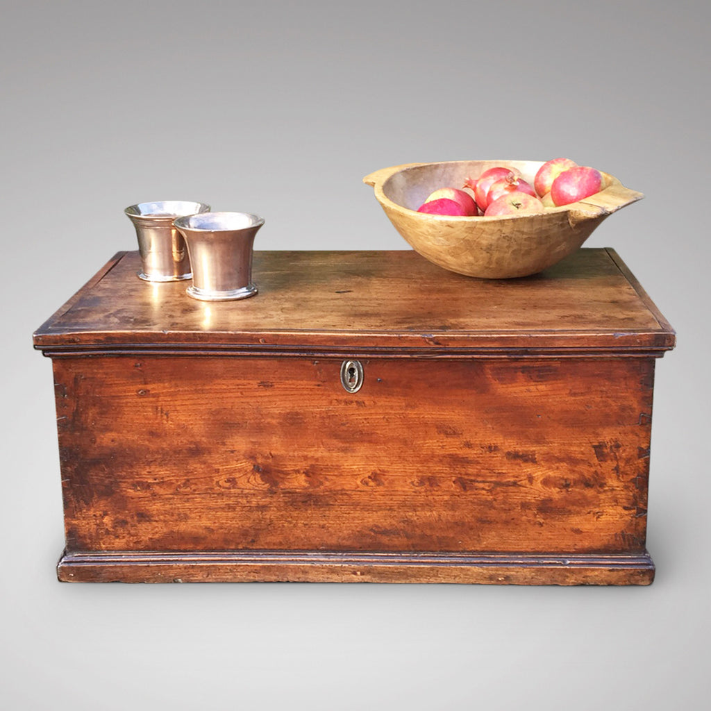19th Century Elm Trunk/Coffee Table - Front View - 1