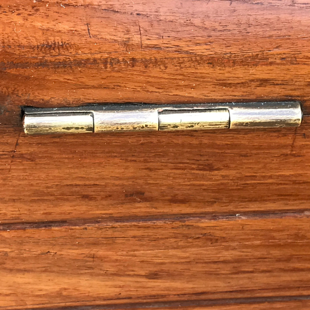 19th Century Teak Cabin Trunk/Coffee Table- Hinge Detail View-6