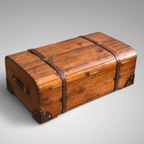 19th Century Teak Cabin Trunk/Coffee Table- Back & Top View-3