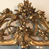 18th Century Carved Giltwood Mirror - Pediment Detail View-4