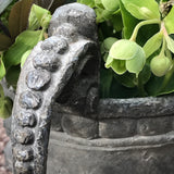 A Fabulous Pair of 18th Century Lead Garden Urns - Handle Detail -5
