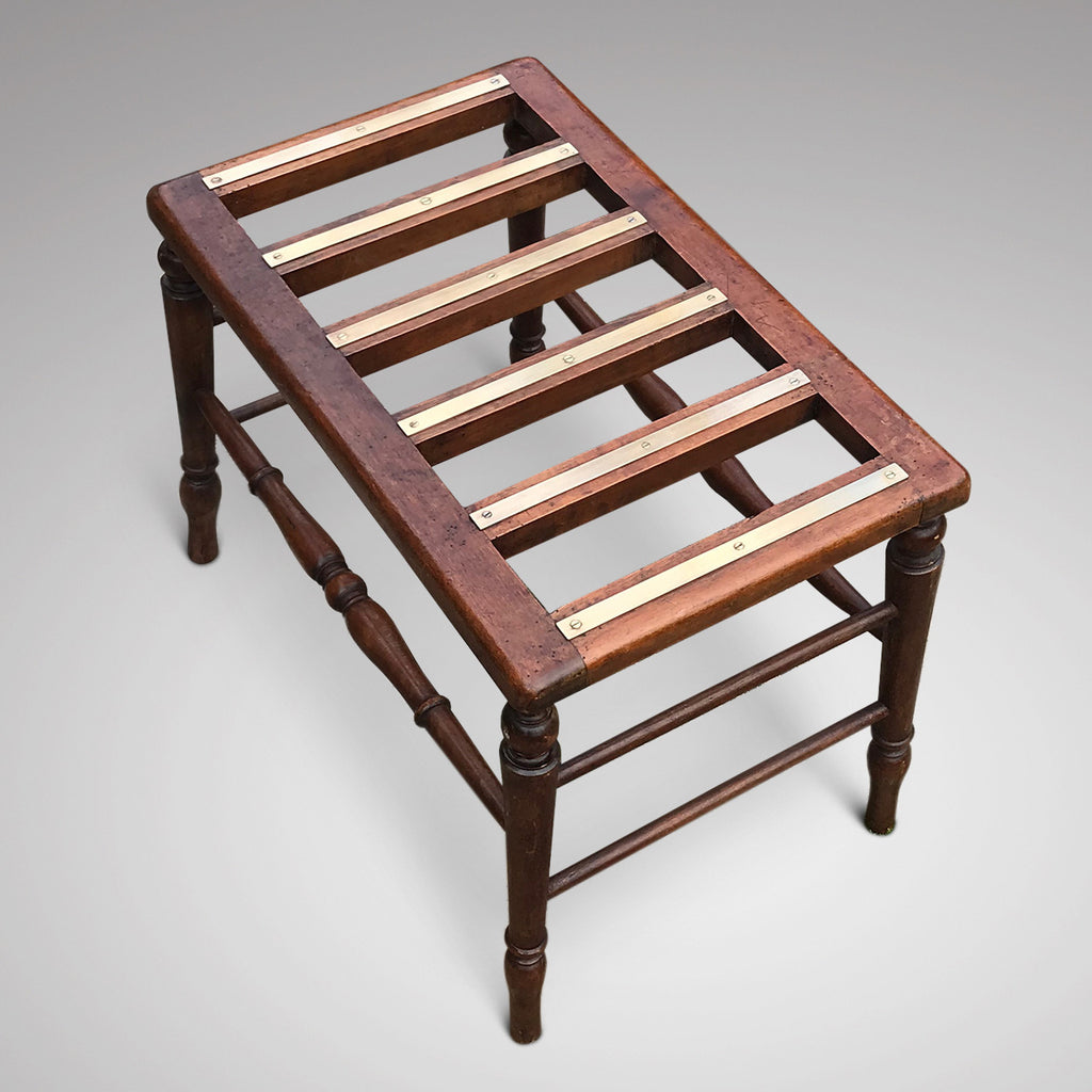 Early 20th Century Mahogany Luggage Rack - Main View - 4