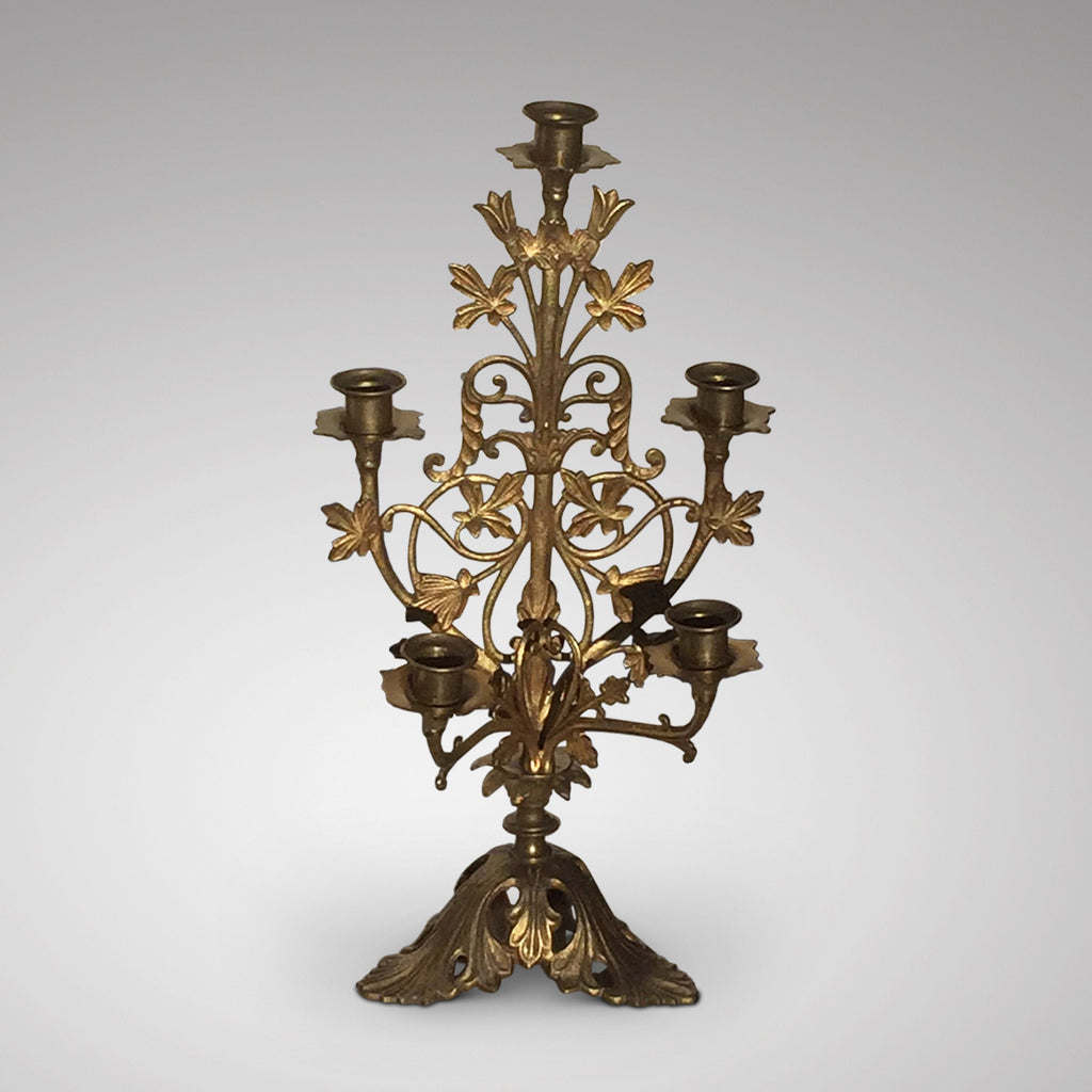 Pair of 19th Century Gilt Candelabra - Front View - 3