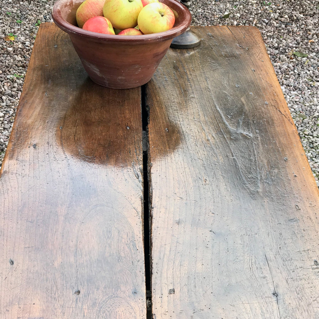 18th Century Welsh Oak Serving Table - Top Detail View - 5