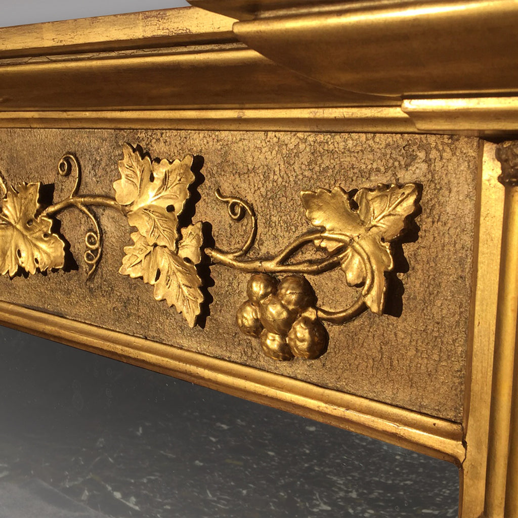 Spectacular Regency Giltwood Overmantle Mirror - Detail of Frieze