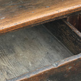 18th Century Welsh Oak Serving Table - Drawer Detail View - 9