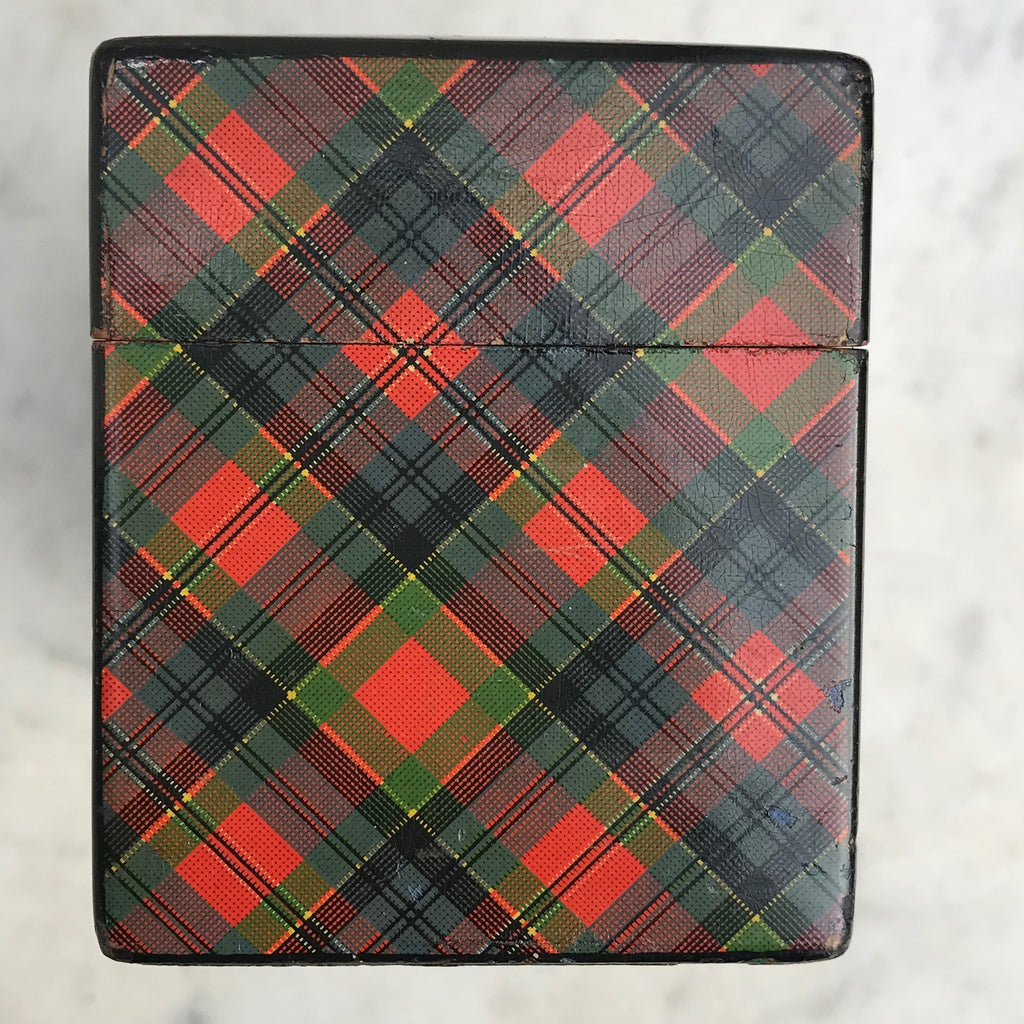 Mauchline Ware McPherson Tartan Ware Playing Card Box - Side View -4