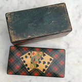 Mauchline Ware McPherson Tartan Ware Playing Card Box - Detail View -10