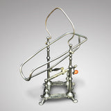 19th Century Silver Plated Wine/Port Cradle - Main View - 2