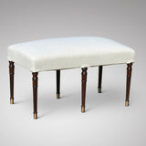 A Fine Regency Mahogany 6 Leg Stool - Main View -1