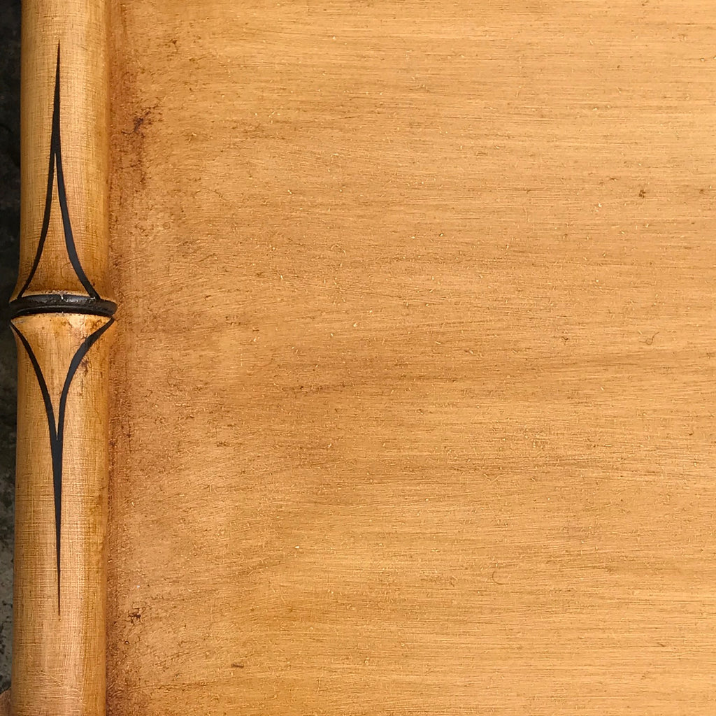 Regency Style Faux Bamboo Hall Bench - Detail View - 2
