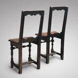 Two 18th Century Oak Lorraine Chairs - Back View - 3