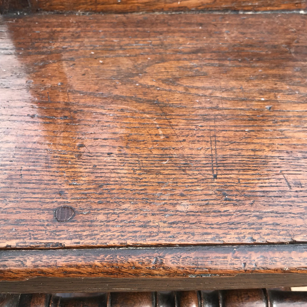 Two 18th Century Oak Lorraine Chairs - Seat View - 5
