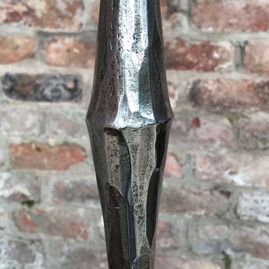 20th Century Polished Steel Candle Sconce - Detail View -3
