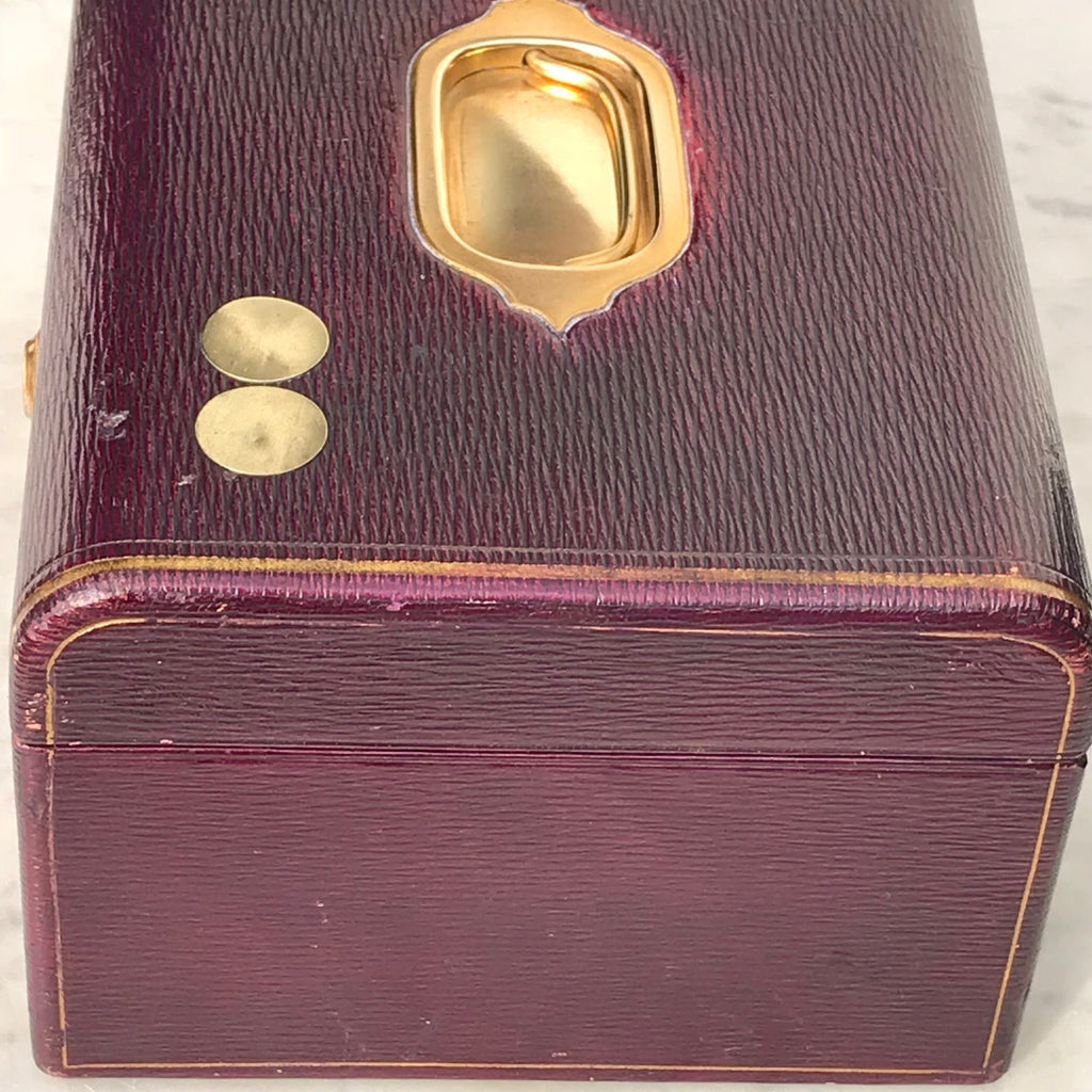 Purple Leather Covered Jewellery Box by Waring & Gillow - Detail View - 13