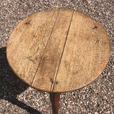 19th Century Oak Cricket Table - Top View - 3