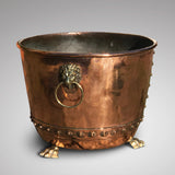 19th Century Copper Seamed & Riveted Log Bin - Main View -1