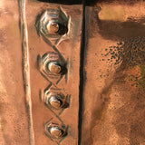 19th Century Copper Riveted & Seamed Log Bin - Detail View - 4