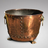19th Century Copper Seamed & Riveted Log Bin - Main View -2