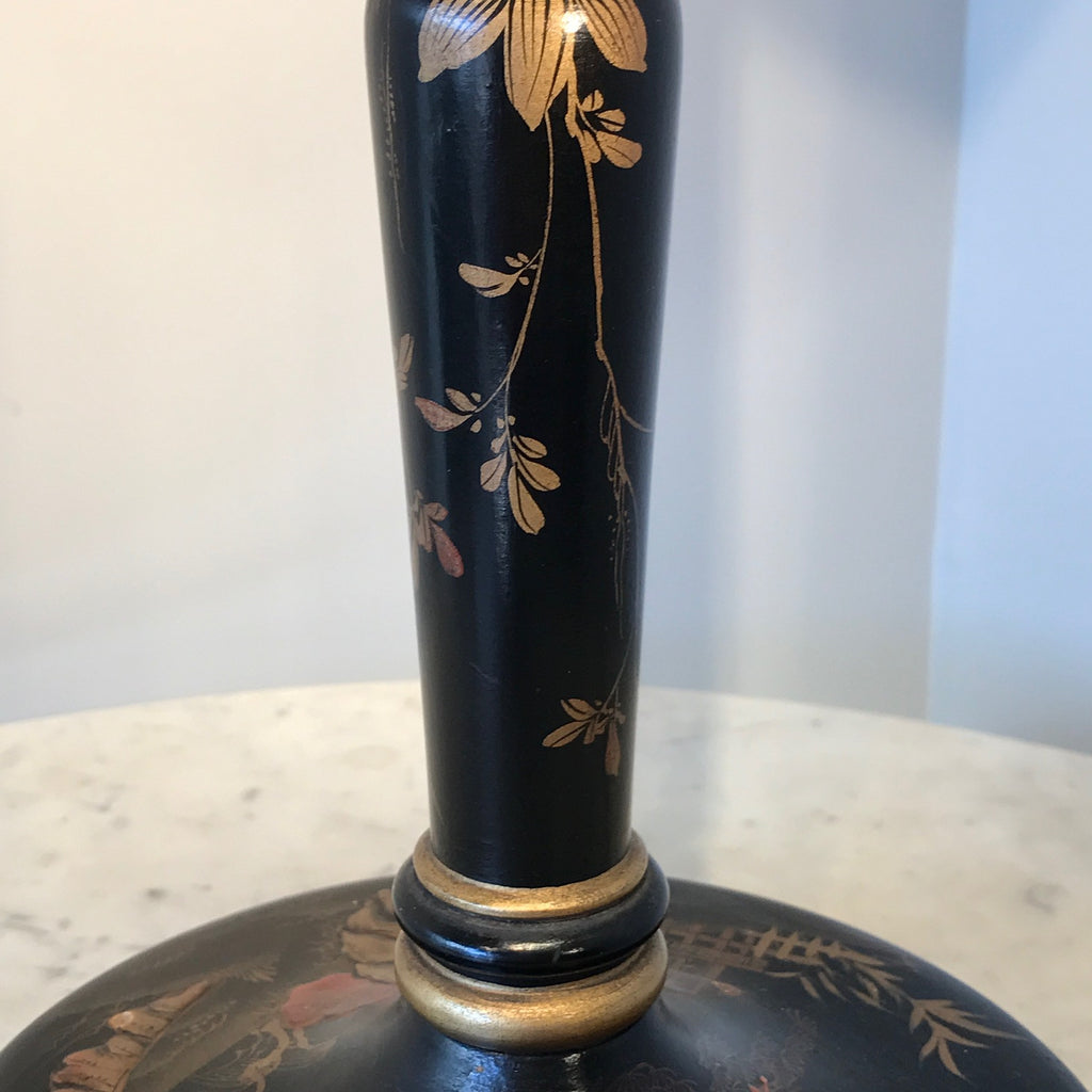 1930's Lacquered Table Lamp - Detail of Column - 4