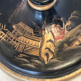 1930's Lacquered Table Lamp - Base Detail View - 2