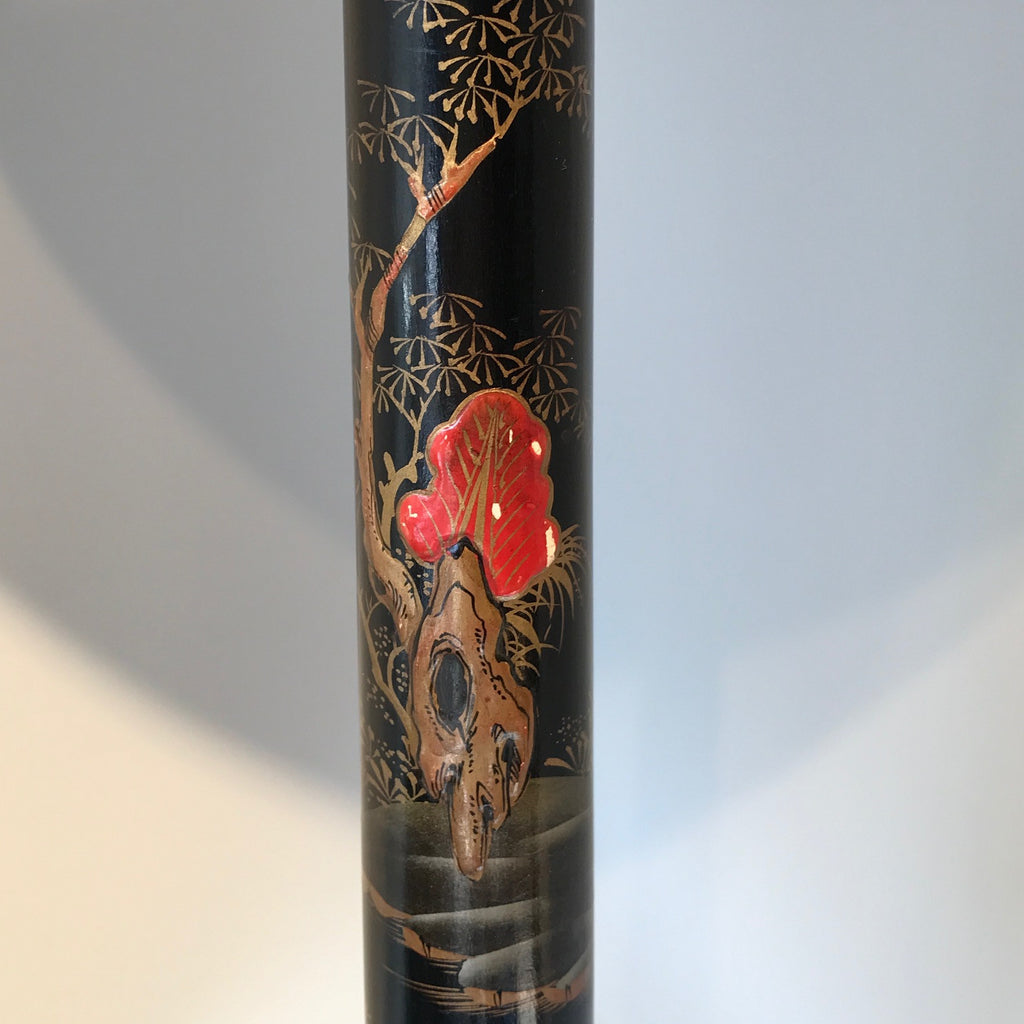1930's Lacquered Table Lamp - Detail of Landscape - 6