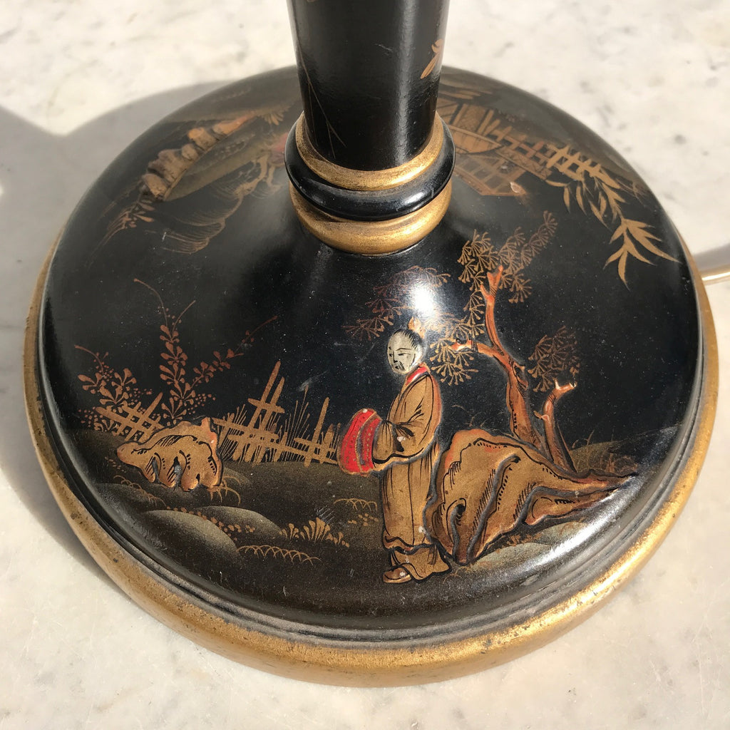 1930's Lacquered Table Lamp - View of Base - 8