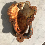 19th Century French Cast Iron Door Knocker - Back View - 2