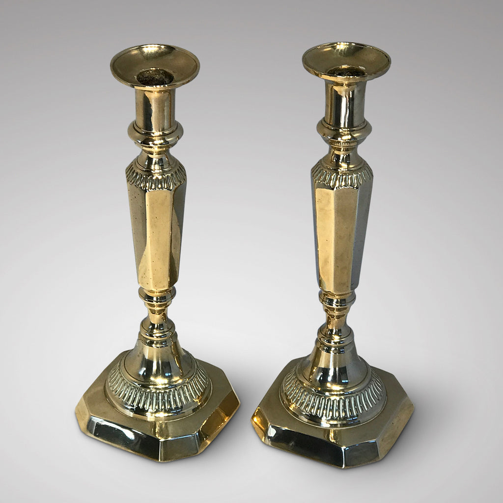 Pair of William IV Brass Candlesticks