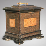 19th Century Copper & Pewter Inlaid Table Cabinet