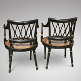 An Exceptional Pair of Regency Painted Chairs - Back View - 3