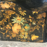 Early Victorian Papier Mache Envelope Box - Side Detail View  - 5