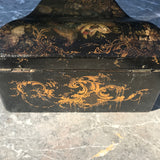 Early Victorian Papier Mache Envelope Box - Back View - 6