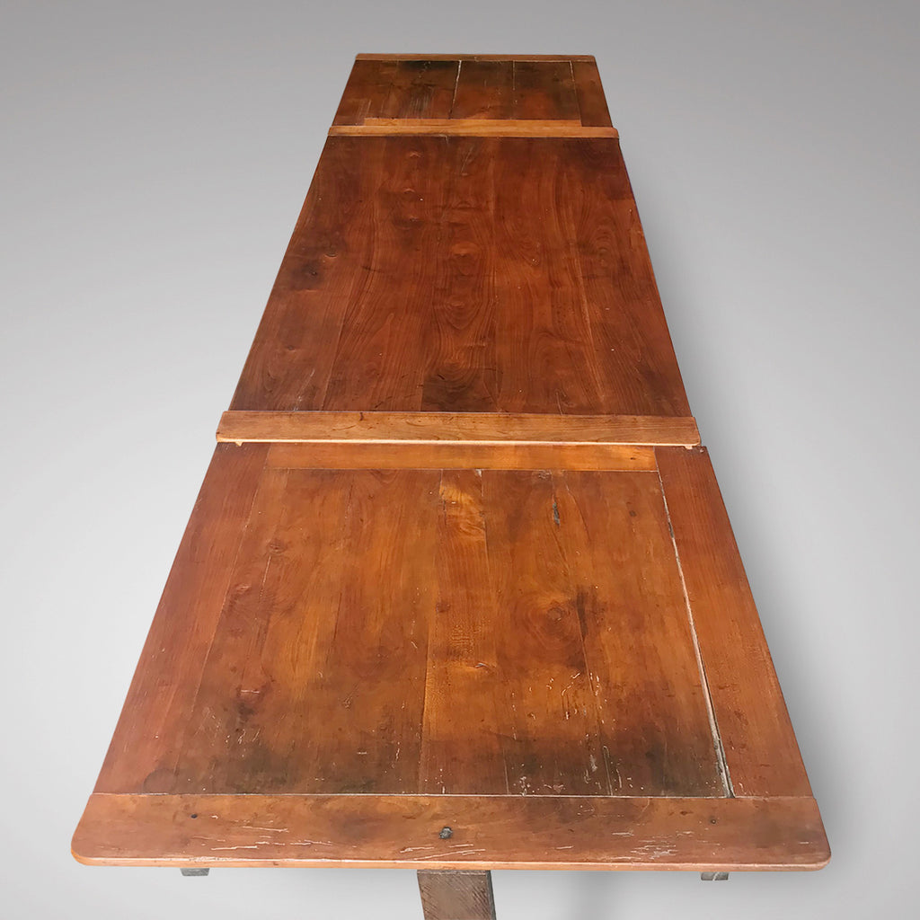 19th Century Fruitwood Extending Dining Table - Top View - 3