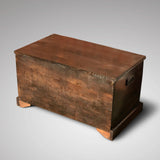 19th Century Oak Blanket Box - Back View - 2