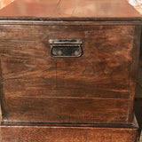 19th Century Oak Blanket Box - Side View - 3