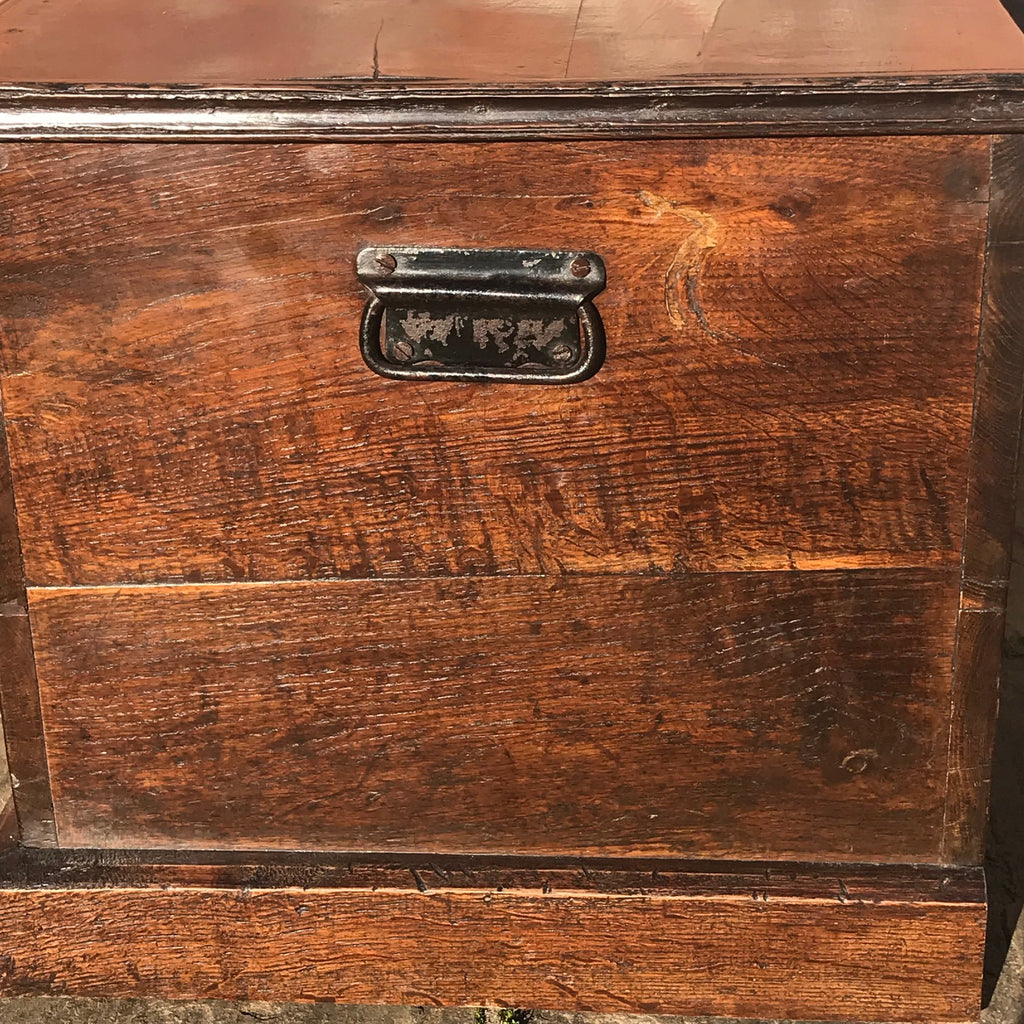 19th Century Oak Blanket Box - Side View - 4