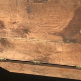 19th Century Oak Blanket Box - Inside View - 5