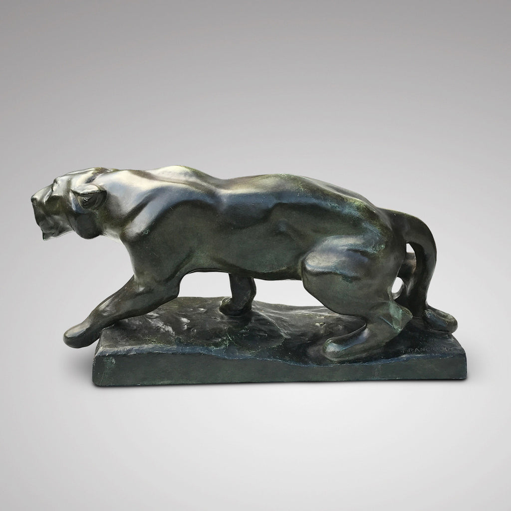 Art Deco Terracotta Sculpture of a Panther - Side View - 2