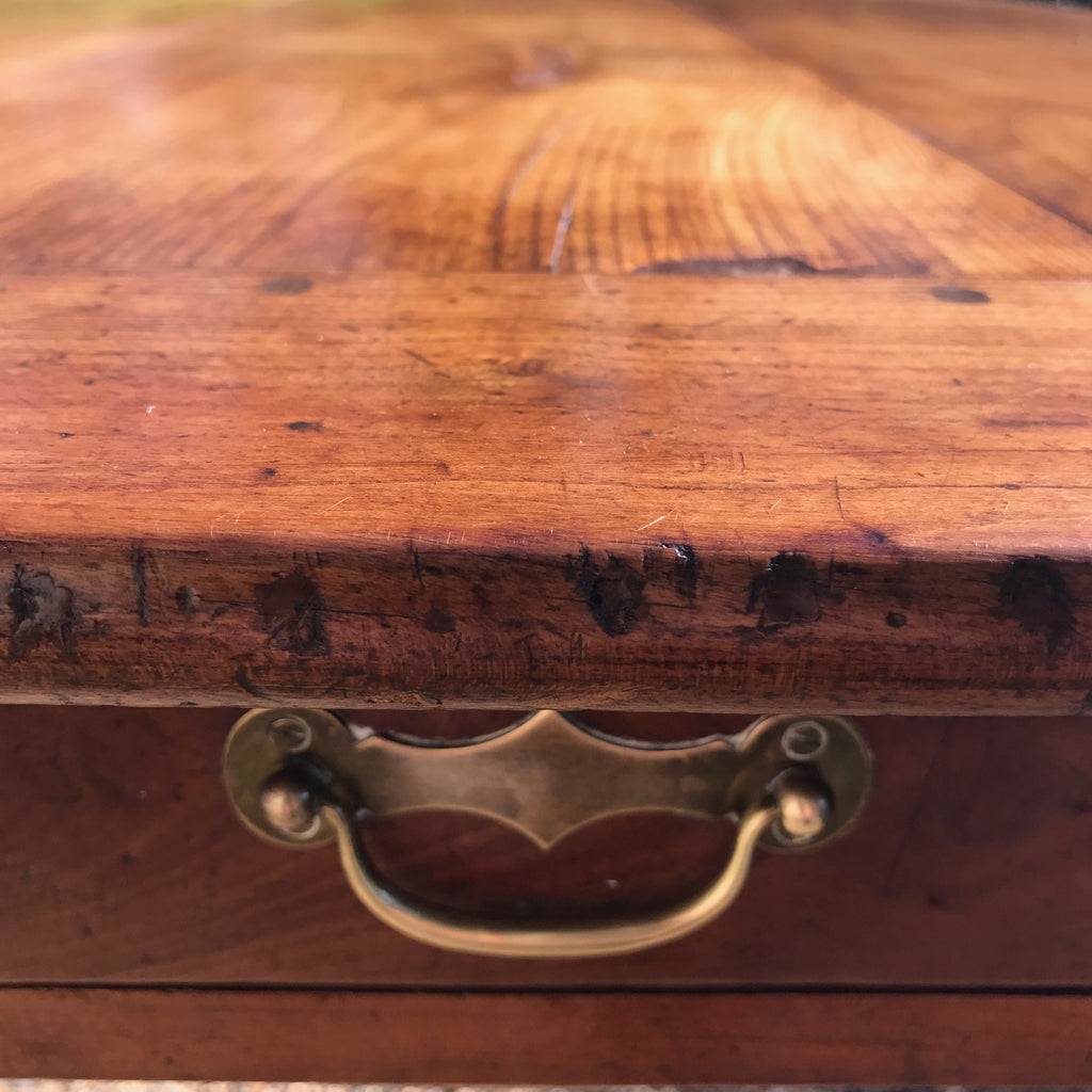 19th Century Fruitwood Dining Table - Drawer Detail- 4